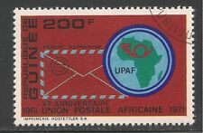 Guinea #C123 (A86) VF USED - 1972 200fr Air Mail Envelope and UPAF Emblem
