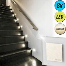 8er Set LED Einbau Spots Gäste Zimmer Decken Beleuchtung Wand Stufen Lampen Flur