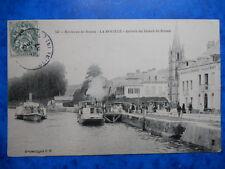 LA BOUILLE  :  Arrivée du Bateau de Rouen.....VO.1907.