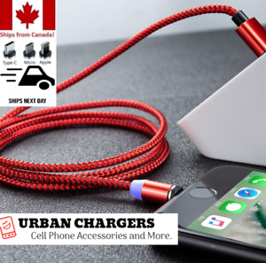 Fast Charger Cable for Android iPhone Type-C Devices Magnetic 3 IN 1