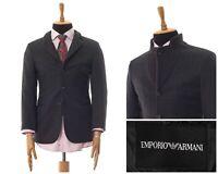 Mens EMPORIO ARMANI Blazer Coat Jacket Cashmere Wool Checked Grey Size 36 46