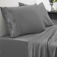Egyptian Bed Sheet 1800 Thread Count Set 4 Deep Pocket Fitted King Size Gray