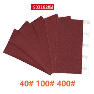 Sandpaper Sanding Sheet Dry Sand Paper Polish 40 100 400 Grit 90*182mm/100*110mm