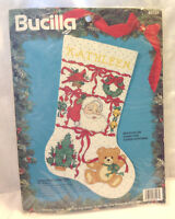 BUCILLA COUNTED CROSS STITCH KIT CHRISTMAS SAMPLES STOCKING #83127 VINTAGE 1994