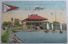 1911 Postcard Padanarum Station New Bedford Ma Yacht Club To Brooklyn Ny