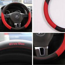 "14.5"" Diameter 58011 Black+Red Steering Wheel Cover Pvc Leather Car Truck Suv"