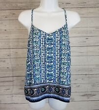 Hollister Womens Tank Top Sz Small Blue Green Polyester
