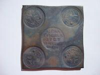 Russland Kupfer Platte Platz Grivna 10 Kopeken 1727 Ekaterina Catherine Rubel