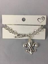 New Fleur-De-Lis Silver Bracelet