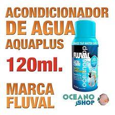 Acondicionador de Agua Aquaplus Fluval - 120ml gran calidad acuario gambario