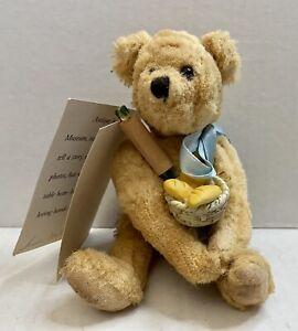 GOLDEN OLDIES Bear By Susan Miller Vintage Signed Baker Plush Jointed Handmade