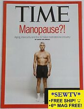 NEW TIME magazine August 18, 2014 - Manopause?! Aging..$2B testosterone industry