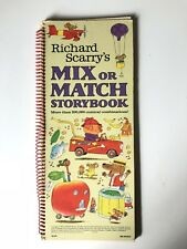 Richard Scarry Mix or Match Storybook 1979 Children's Book