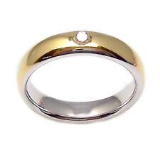 Fedi matrimonio con diamante bicolore in oro bianco 18 kt anello matrimonio 2 pz