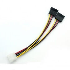 5pcs 4 Pin IDE Male Molex to Dual SATA Y Splitter Female HDD Power Adapter Cable
