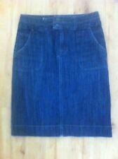 Ladies COLORADO Dark Blue Denim Skirt Size 8 Knee Length Stretch