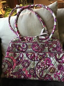 VERA BRADLEY Bowler Style Handbag PASLEY MEETS PLAID  New with Tags, Exact