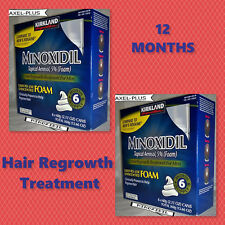 12 Months - KIRKLAND Minoxidil Topical Aerosol 5% Foam - Hair Regrowth Treatment