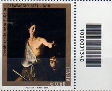 2010 francobollo Michelangelo Merisi detto Il Caravaggio CON CODICE A BARRE 1340