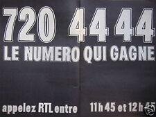 PUBLICITÉ APPELEZ RTL ENTRE 11H45 ET 12H45 LE NUMÉRO QUI GAGNE 720 44 44
