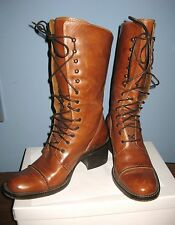 Hi End Made in Italy Lace Up ALL Leather Boots By Vittorio Piani AMAZING! sz 38