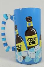 Top Shelf hand Painted Glass Stein 'Bucket List' Cooler-Ice-Beer #TS3762CG NEW!
