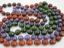 """Fashion Marbled Lucite Necklaces Green 18"""", Purple 24"""", Red 29"""""""