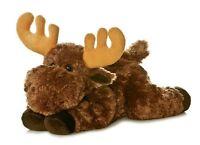 "Aurora Flopsie Moose 12"" Stuffed Animal Plush NWT 31421"