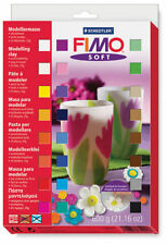 FIMO Soft Polymer Clay 24 x 25g Half Blocks Starter Set Fun Kids Modelling 600g