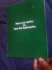 1971 Audi 100LS and Super 90 USA Market Color Brochure Catalog Prospekt