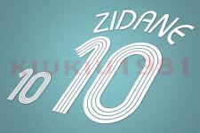 France Zidane #10 World Cup 2006 Homekit Nameset Printing