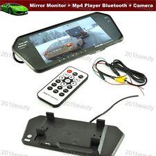 "7"" TFT LCD Screen Car Rear View Mirror Monitor Mp4 Player Bluetooth + CCD Camera"