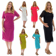 Knee Length Stretch Scoop Neck Dresses for Women