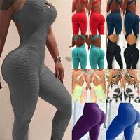Women Yoga Jumpsuit Bodysuit Rompers Fitness Gym Pants Workout Athletic Leggings
