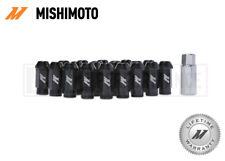 MISHIMOTO BLACK ALUMINIUM LOCKING WHEEL LUG NUTS SET - M12x1.5 - ANODISED