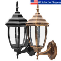 Retro Aluminum Wall Light Lamp Fixture Garden Outdoor Porch Patio Lantern  US