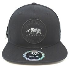 70ef299e717 CALIFORNIA REPUBLIC Snapback Cap Hat CA CALI Bear Black Caps Hats NWT