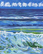 LARGE CONTEMPORARY ORIGINAL MODERN Beach CANVAS PAINTING FINE ART Dan Byl 4x5ft