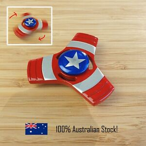Fidget Spinner Heavy Metal, Marvel Captain America for Stress, Anxiety, EDC Toy
