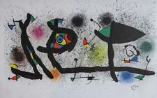 Joan Miro (Spanish, 1893-1983) Sculptures 1974 Color Lithograph Framed