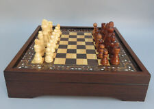 "STAR ""WALNUT"" DESIGN WOODEN CHESS SET-WOODEN BOARD GAME WITH PIECES"