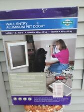Petsafe Wall Entry Aluminum Pet Door HPA11-10920, Large- NEW IN BOX!