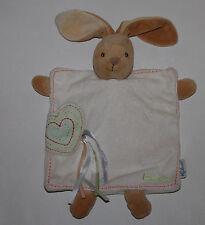 Kaloo Hase Rabbit Schmusetuch  Schnuffeltuch Kuscheltuch Herz 25cm groß TOP RAR