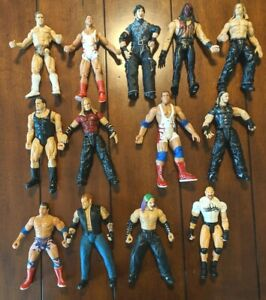 WWF WWE Jakks Pacific Lot Of 13 Titan Tron Live Wrestling Figures 1999 - 2001