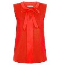 Hobbs Maisy Tie Neck Top Red Size XS Sa170 DD 15