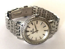 Bulova Mother of Pearl Diamond Bezel Ladies Watch 96R164 Runs Retail $499.99