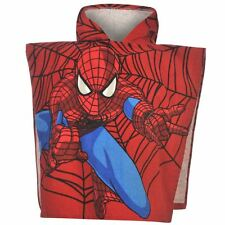 DISNEY poncho serviette cape de bain à capuche SPIDERMAN 2-6 ans rouge bleu NEUF