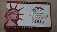 2005 United States Mint Silver Proof Set Box & COA in Original Govt. Packaging