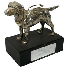 More details for vintage silver plate retriever dog guide blind association paperweight sculpture