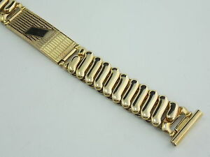 1940s Unused Everfine 16mm 12K gold filled overhand expansion band with ID tag